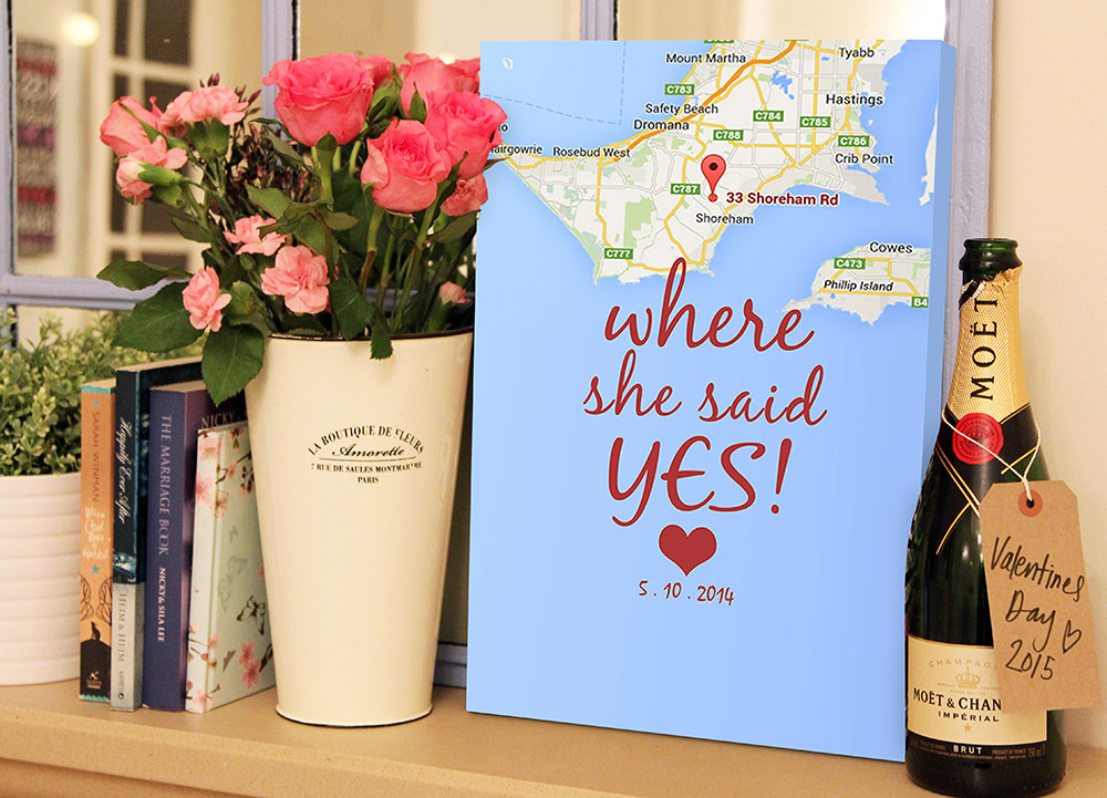 Custom art gifts | Where She Said Yes