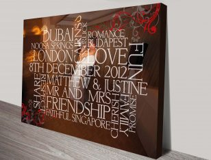 custom framed word art
