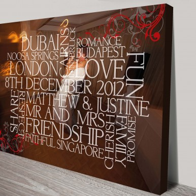 custom framed word art | Word Clusters with Photo