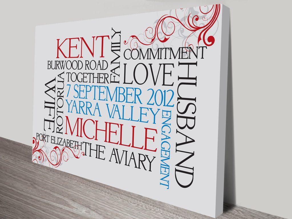 custom typographic art