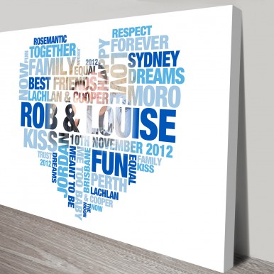 Heart photo shaped word art | Heart Shaped Photo Word Art