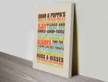 house rules personalised gifts art