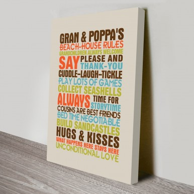 house rules personalised gifts art | House Rules Style 4