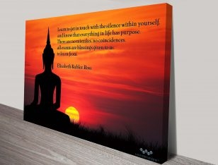 Inspiration Quote Photo Canvas