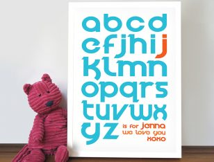 personalised Alphabet art