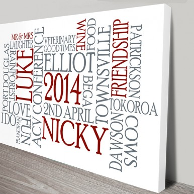 personalised gift ideas | Clustered Typographic