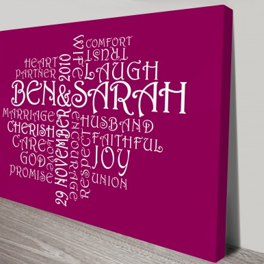 personalised wall posters | Magenta Clusters
