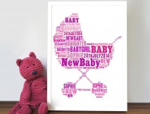 personalised word art new baby