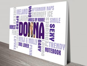 personalized photo word art