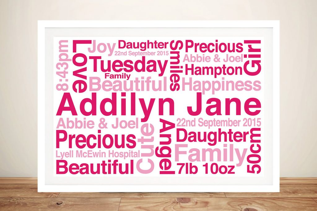 Personalised baby gifts Art