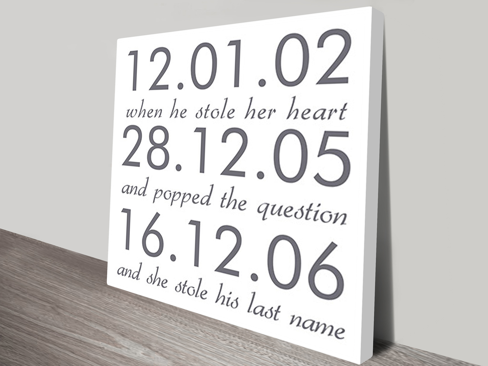 Wedding art gifts | Wedding Dates
