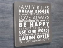 Family Rules Art Grey