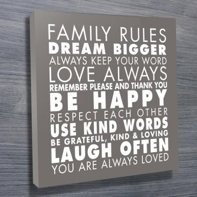 Family Rules Art Grey   Family Rules – Grey