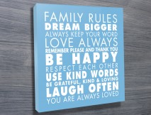 Family Rules art Light Blue