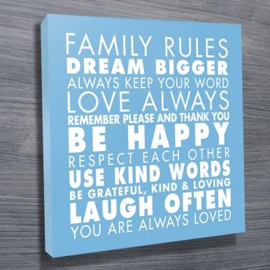 Family Rules art Light Blue | Family Rules – Blue