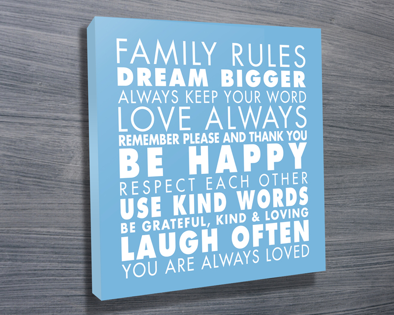 Family Rules art Light Blue | Family Rules – Blue