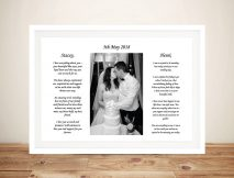 Custom Framed Wedding Art Gift