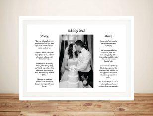 Custom Framed Wedding Art Gift