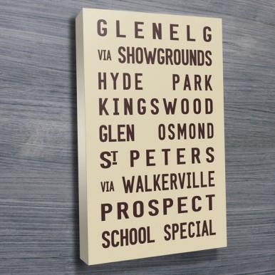 Glenelg tram scroll beige   Glenelg Tram Scroll