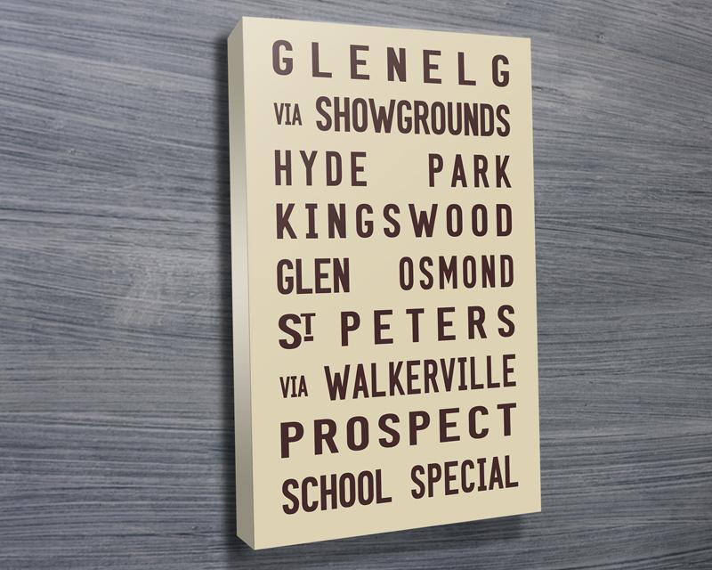 Glenelg tram scroll beige | Glenelg Tram Scroll
