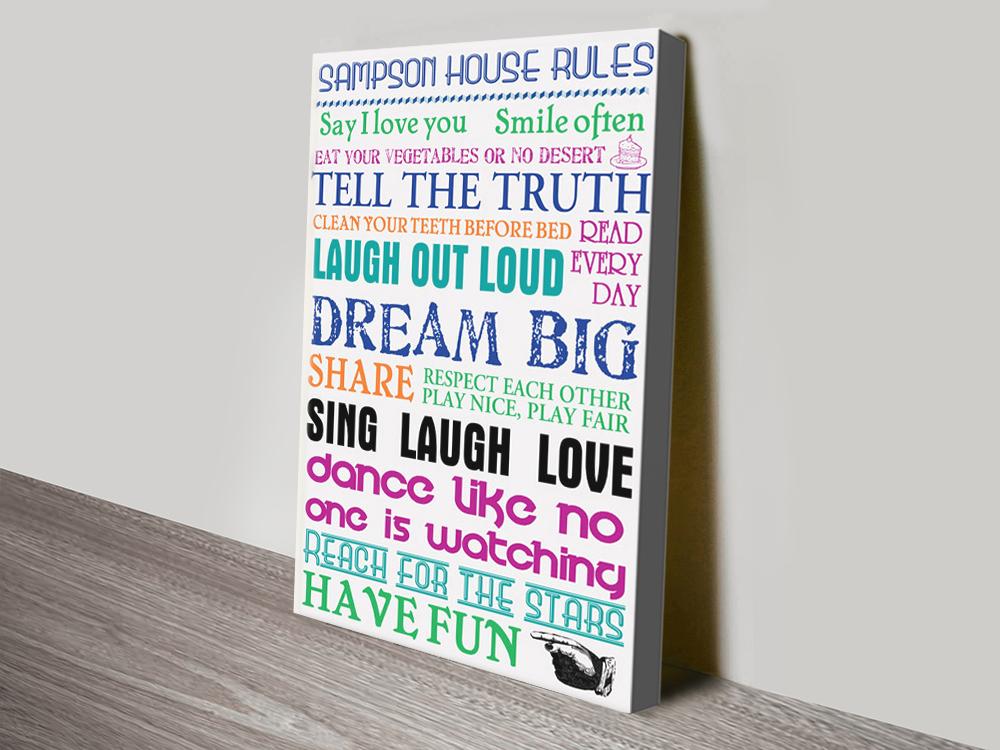 Buy Colourful Custom Word Art Gift Ideas AU