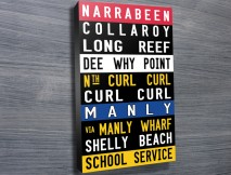 Narrabeen Manly Coloured word art