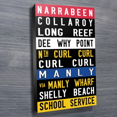 Narrabeen Manly Coloured word art | Narrabeen Manly Coloured
