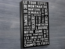 Paris Modernista rectangle canvas