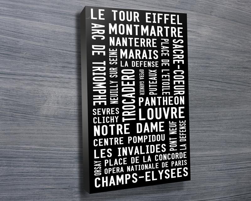 Paris Modernista rectangle canvas | Paris Modernista
