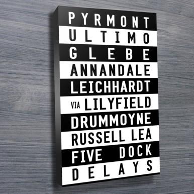 Pyrmont Striped tram scroll | Pyrmont Striped