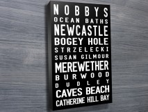 Nobby's-Beach Contemporary tram scroll