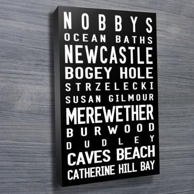 Nobby's-Beach Contemporary tram scroll | Nobby's Beach Contemporary