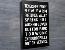 Teneriffe Ferry tram banner