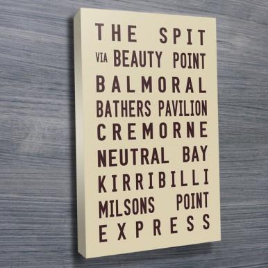 The Spit tram scroll Beige | The Spit Tram Scroll Beige