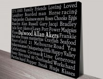 Typographic Personalised Artwork Fathers Gift Ideas