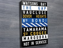 Watsons Bay Colored word art