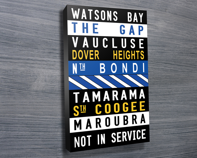 Watsons Bay Colored word art | Watsons Bay Coloured