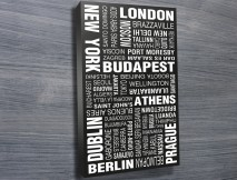 World Cities word art