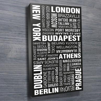 World Cities word art | World Cities Modernista