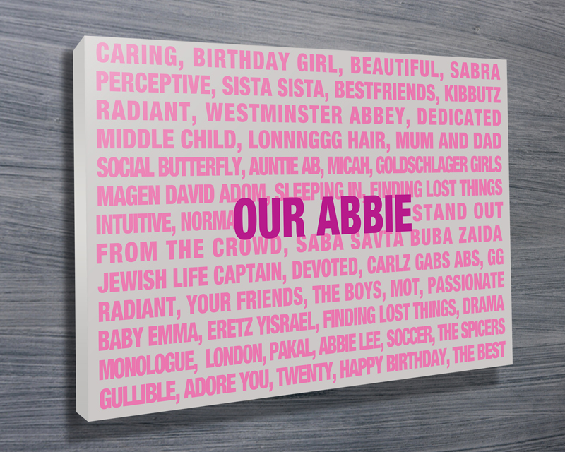 personalised canvas art | Our Abbie
