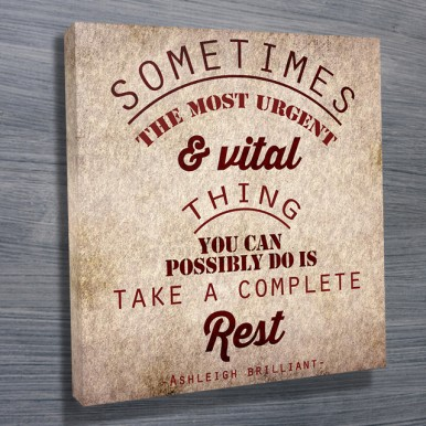 personalised canvas word art | Take a Rest