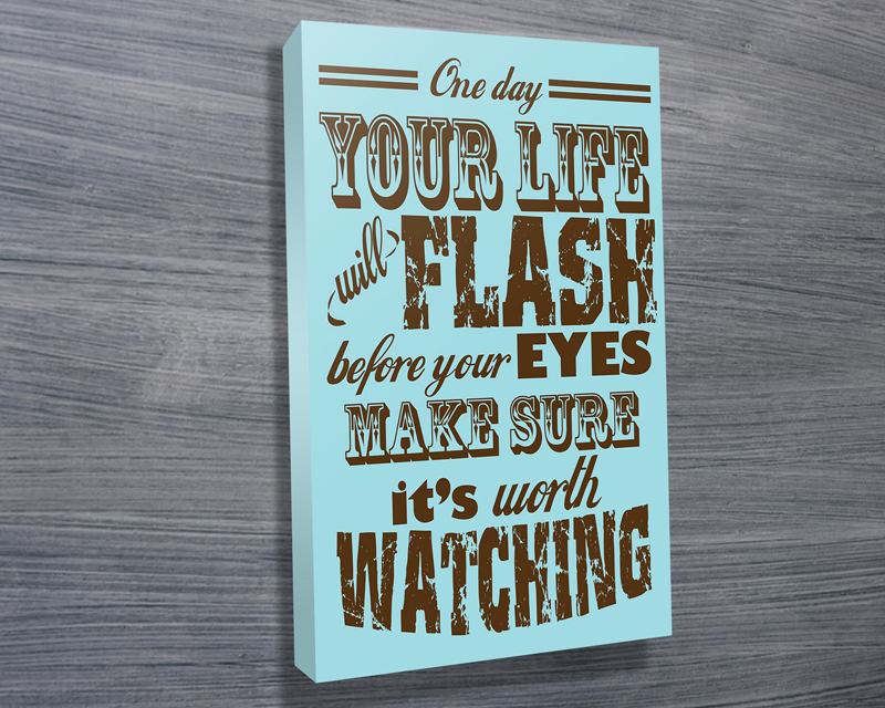 typographic canvas art | Flash before your eyes