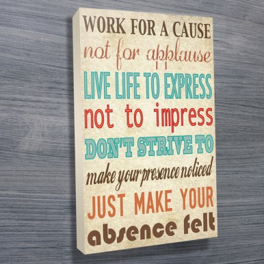 custom canvas wall art | Work for a Cause
