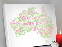 Australian map word art