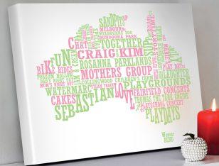 Australian map word art