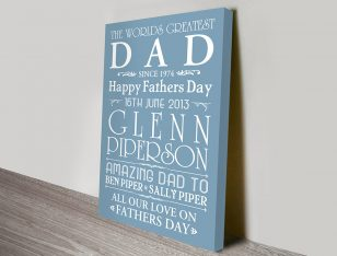 Fathers Day Bespoke Art Gift