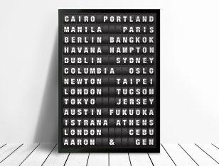 Airport Destination Board Art