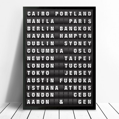 Airport Destination Board Art | Airport Destination Sign – style 3