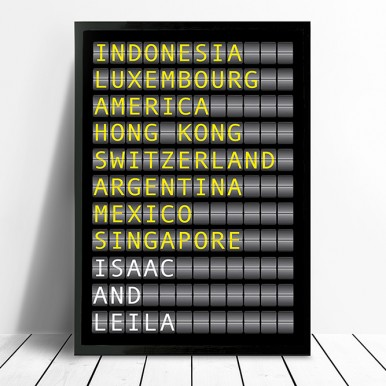 Flight Destination Board Art | Airport Destination Sign – style 1
