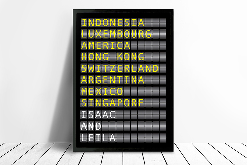 Flight Destination Signs